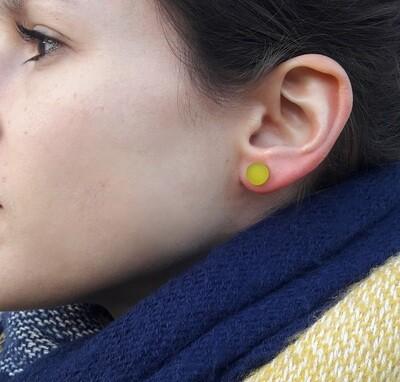 Boucles d'oreilles rondes couleurs en plexiglas