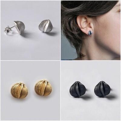 Boucles d'oreilles GRAINE argent 925