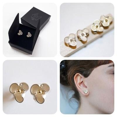 Boucles d'oreilles INES argent 925 et or