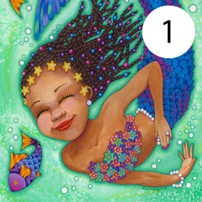 Mermaid Gicleé Prints 9.5 x 7.5, Matted  (See Product Details for full images)