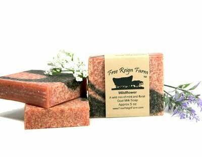 Wild Flower Goat Milk Soap (Floral & Mint)