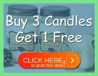 Wood Wick Soy Candles: Buy 3 Get 1 Free Deal