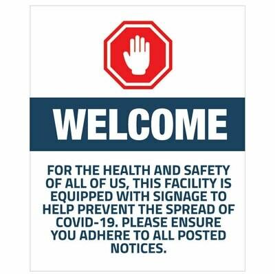 Welcome Sign - Interior/exterior entrance