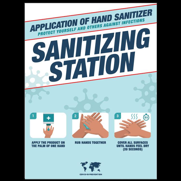 Hand Sanitizing Instructions