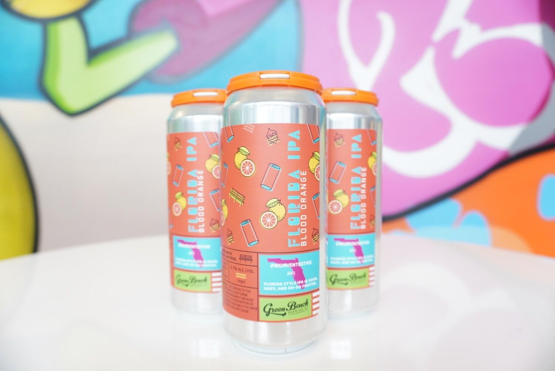 Green Bench - FL Sour Hazy IPA Blood Orange - 6.7% ABV - 4 Pack