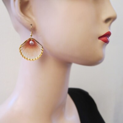Boucles d'oreille Coquillage - 1 perles