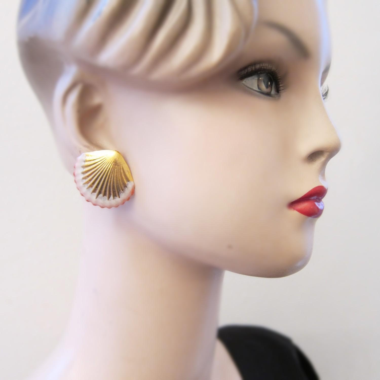Boucles d'oreille Coquillage - clou