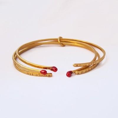 Bracelet - Trio Mini Joncs Amulettes