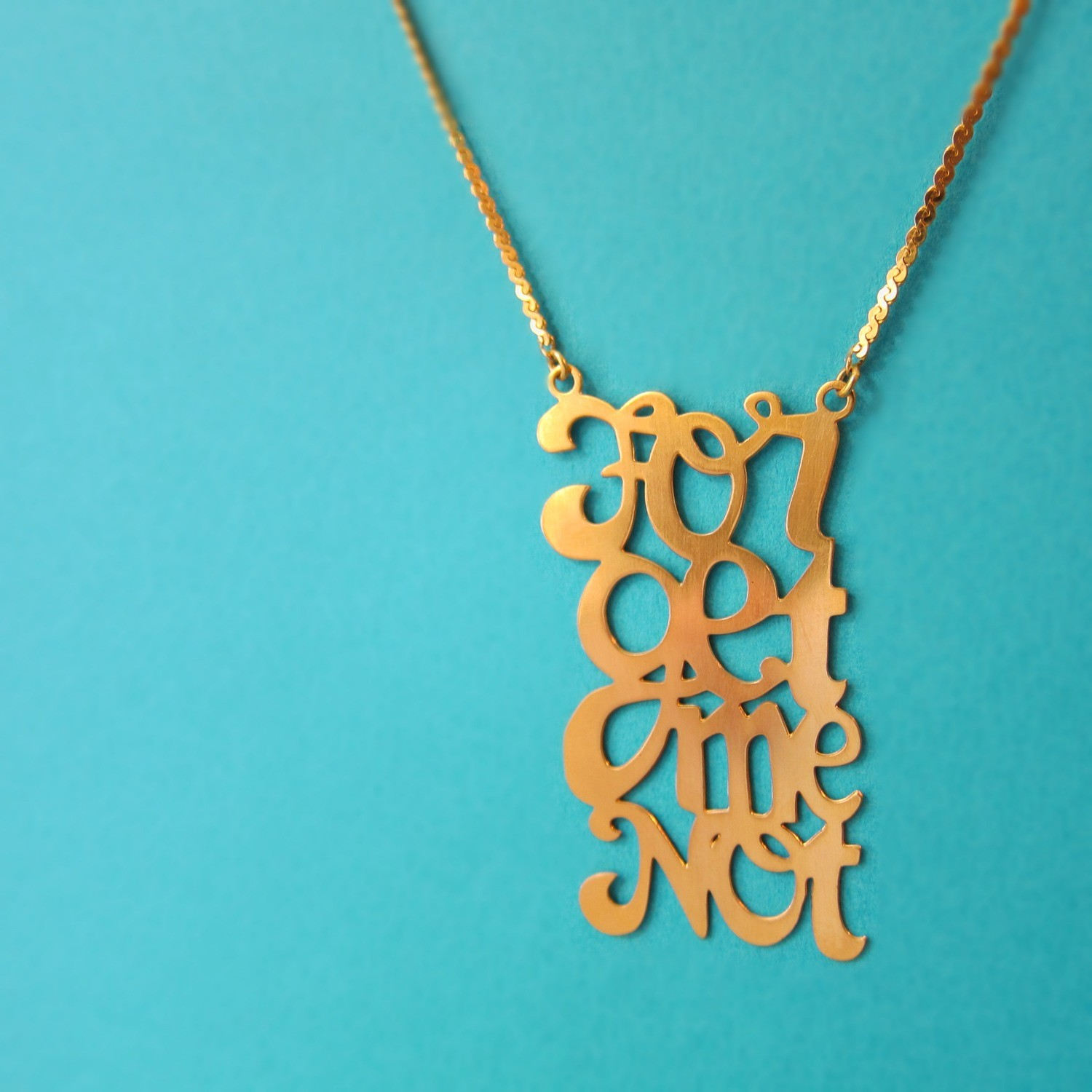 Collier Forget Me Not