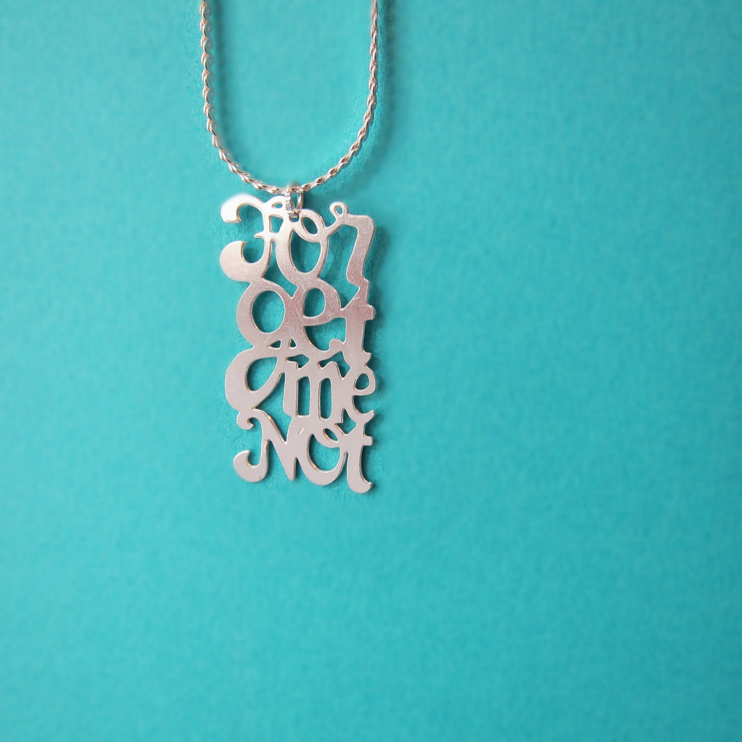 Collier Pendentif Forget Me Not - Argent