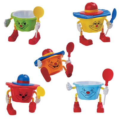 Alcas Joyoso Circus Cup w/bicolored spoon (120cc assorted colors)