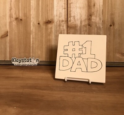 #1 Dad Template Tile