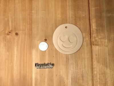 Emoji Heart Eye Ornament
