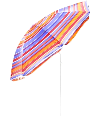 Зонт пляжний 2.2/1.95 м з нахилом і анти-UF