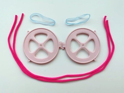 Healthy Pink cap and straps set