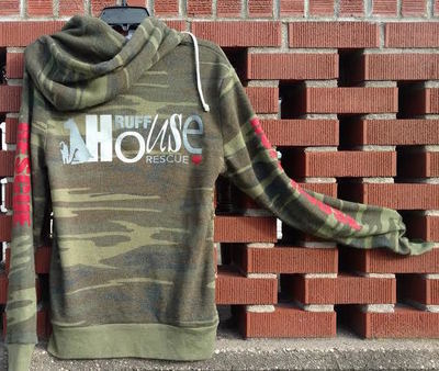 Unisex Ultra Soft Zip Up Camo Hoodie