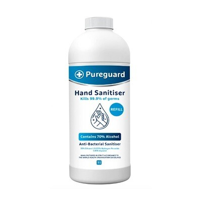 Pureguard Hand & Surface Sanitiser 70% - 1L