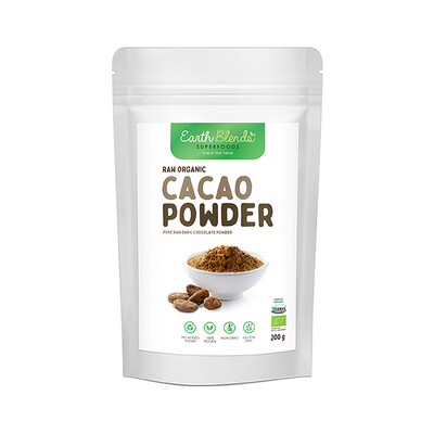 Earth Blends Raw Cacao Powder (200g)