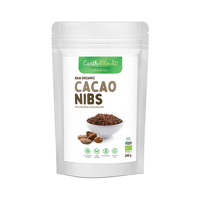 Earth Blends Raw Cacao Nibs (200g)