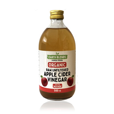 Earth Blends Raw Unfiltered Apple Cider Vinegar (500ml)
