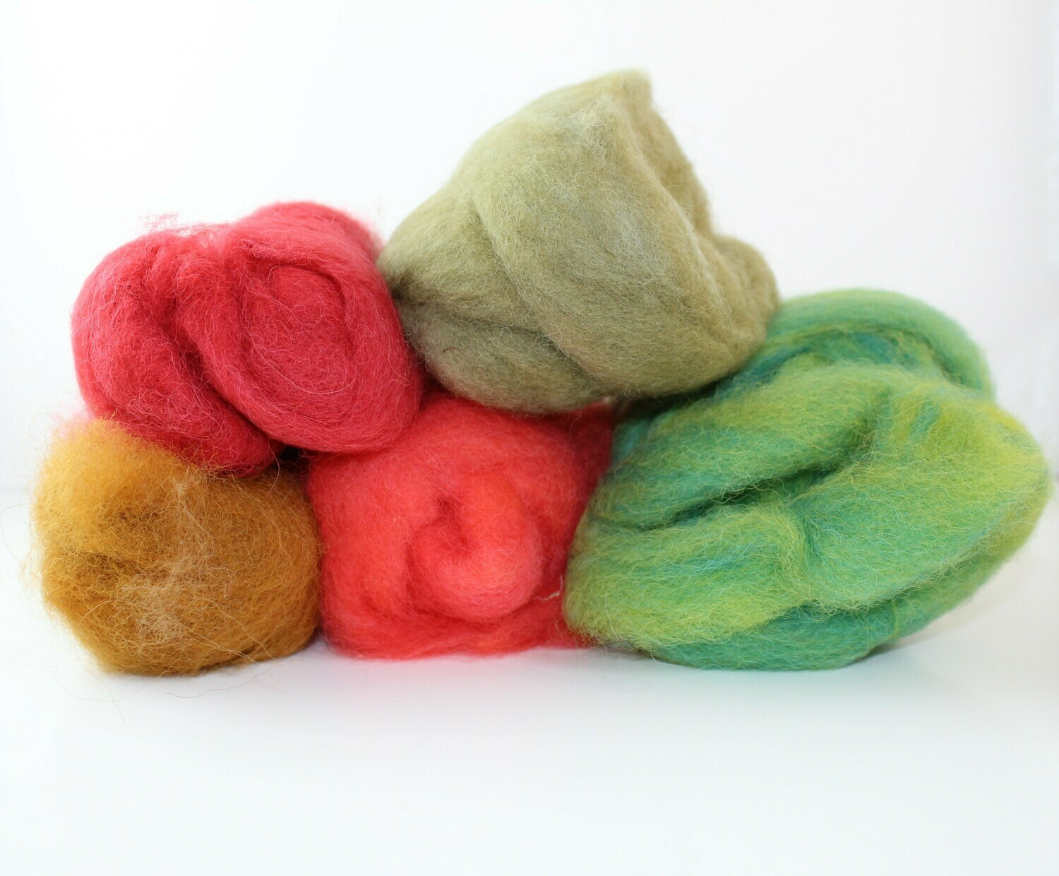 Fiber, Dyed, Carded