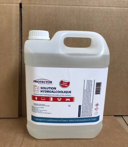 Solution hydroalcoolique : Bidon de 5l