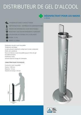 Distributeur de solution hydroalcoolique bouteille 500ml/1L