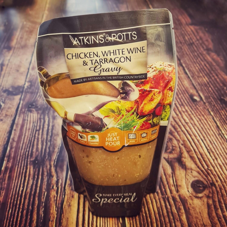 Chicken, White Wine & Tarragon Sauce