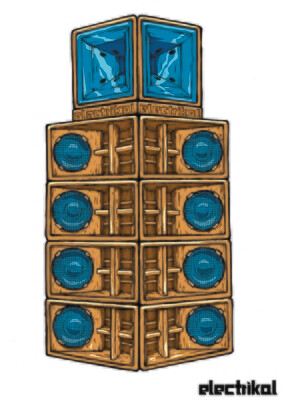 Danley Speakers Colour | A3 Print