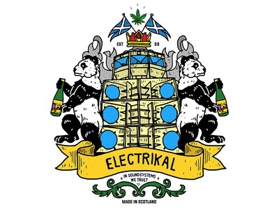 Electrikal Crest Sticker