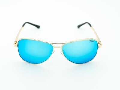 Aviator Gold & Blue