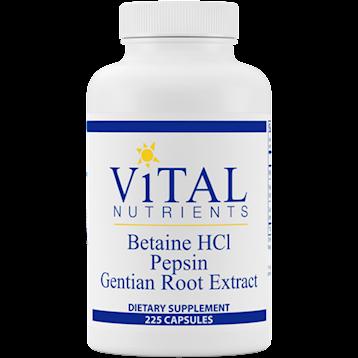 BETAINE HCL PEPSIN GENTIAN - VITAL NUTRIENTS