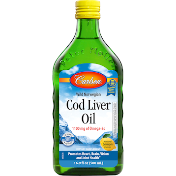 COD LIVER OIL LEMON 16.9 OZ - CARLSON