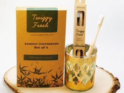 4Pack Bamboo Toothbrush
