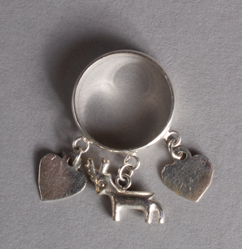 Silver Ring Hearts & Deer