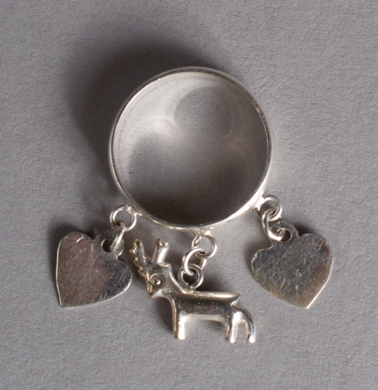Silver Ring Hearts & Deer