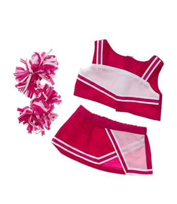 Pink & White Cheerleader Outfit - 16 inches