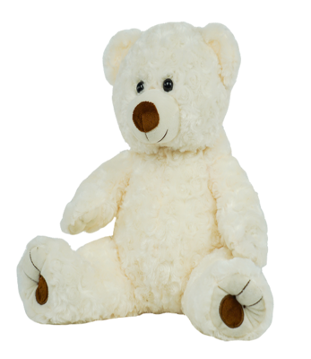 Edward the White Twist Bear - Build-A-Plush Bundle - 16 inches