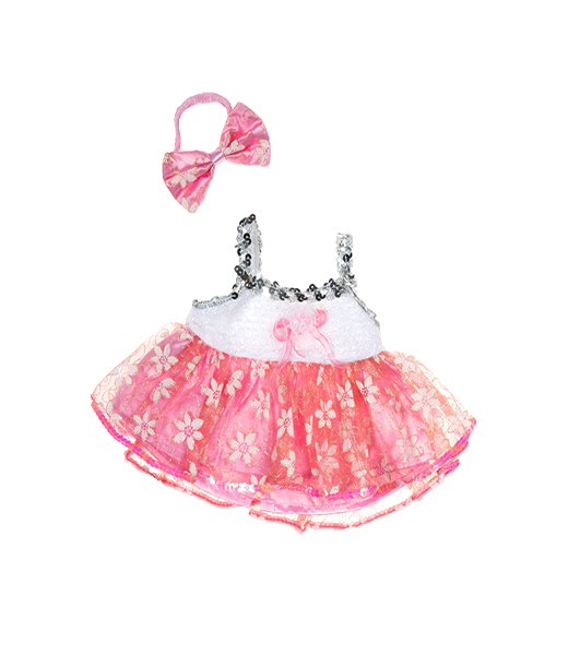 Pink Passion Hearts Dress Outfit - 16 inches