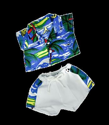 Hawaiian Shirt & Shorts Outfit - 16 inches