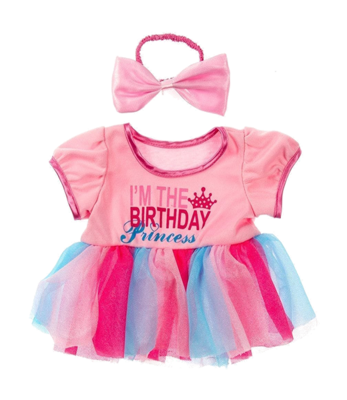 Birthday Princess with Bow Outfit - 16 inches