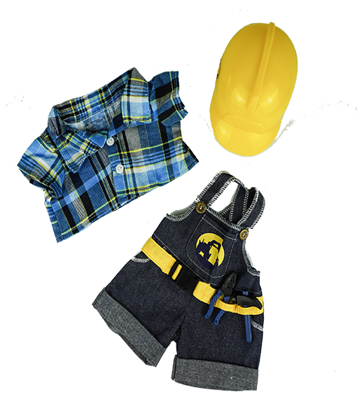 Construction Worker Outfit - 16 inches