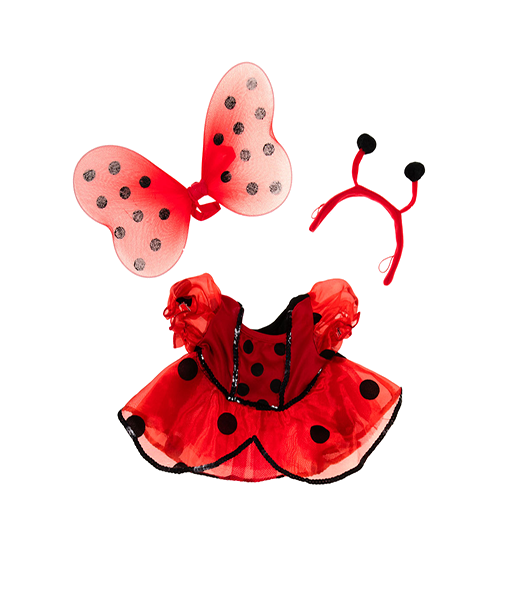 Ladybug Costume with Wings Outfit - 16 inches