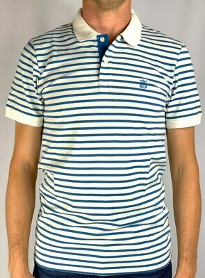 SLHARO STRIPE SS EMBROIDERY POLO W