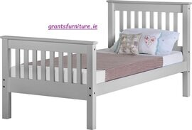 Monaco 3' Bed (Single) Grey High-end