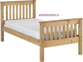 Monaco 3' Bed (Single) Distressed Waxed Pine High-end