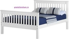 Monaco 5ft Bed White High-end