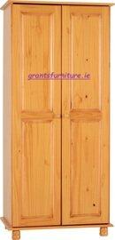 Sol 2 Door Antique Pine Wardrobe