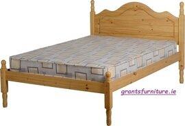 Sol 4' Bed in Antique Pine