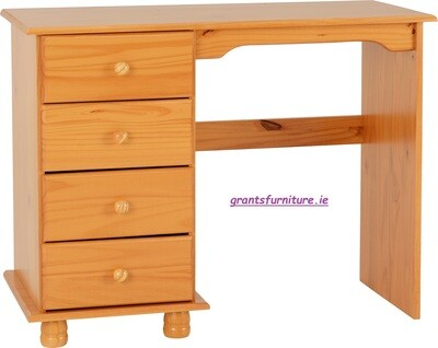 Sol 4 Drawer Dressing Table in Antique Pine